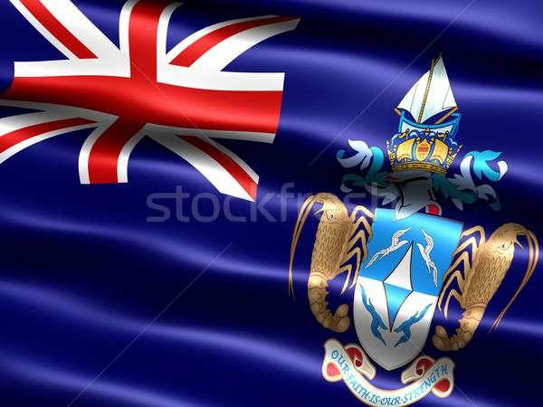 Bayrak bilgisayar oluşturulan örnek ipeksi Stok fotoğraf © bestmoose