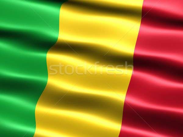 Banderą Mali komputera wygenerowany ilustracja jedwabisty Zdjęcia stock © bestmoose