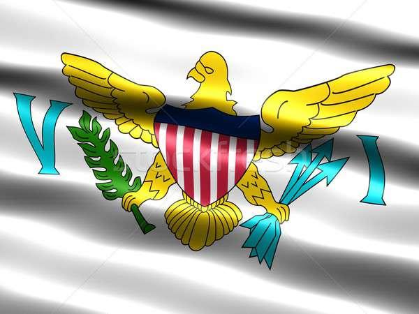 флаг Виргинские о-ва компьютер генерируется иллюстрация шелковистый Сток-фото © bestmoose