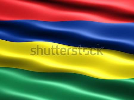 Bayrak Mauritius bilgisayar oluşturulan örnek ipeksi Stok fotoğraf © bestmoose