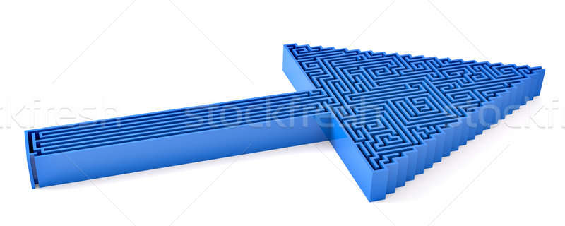 Niebieski arrow sposób 3d w górę Zdjęcia stock © bestmoose