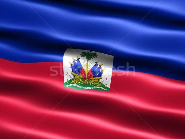 Vlag Haïti computer gegenereerde illustratie zijdeachtig Stockfoto © bestmoose