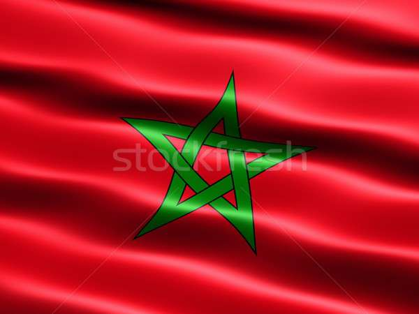 Flag of Morocco Stock photo © bestmoose