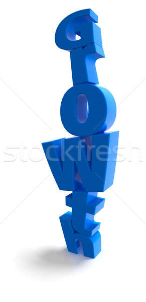 Growth stack in blue over white background Stock photo © bestmoose