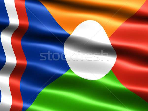 Flag of Reunion, unofficial Stock photo © bestmoose