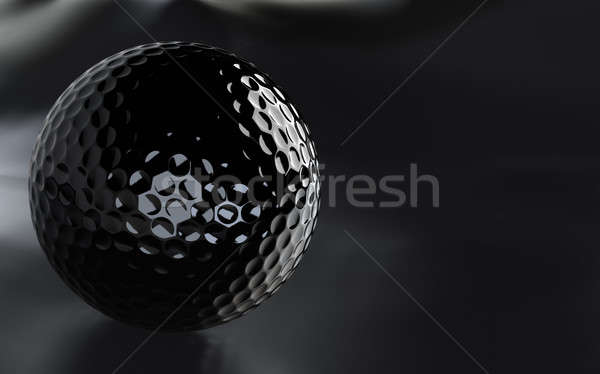 Black, glossy golf ball with alpha channel. Stock photo © bestmoose