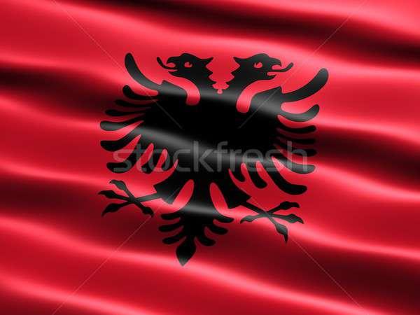 Flag of Albania Stock photo © bestmoose