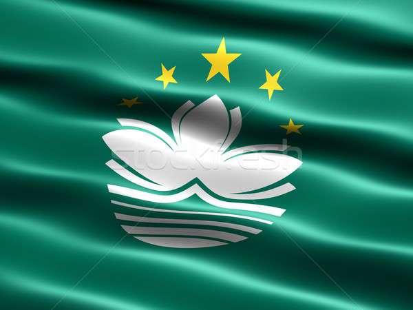 Flag of Macau Stock photo © bestmoose
