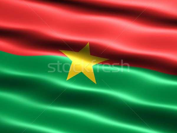 Zászló Burkina számítógép generált illusztráció selymes Stock fotó © bestmoose
