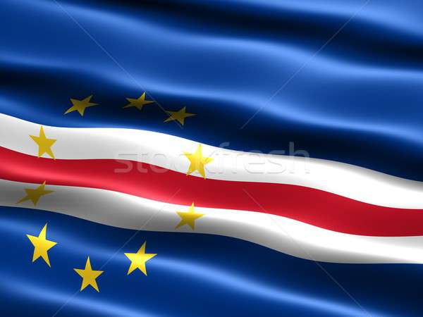 Flag of Cape Verde Stock photo © bestmoose