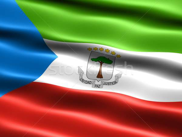 Bandeira Guiné Equatorial computador gerado ilustração sedoso Foto stock © bestmoose