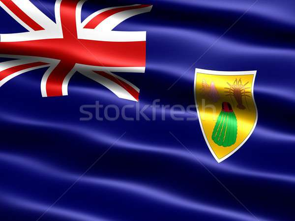 флаг компьютер генерируется иллюстрация шелковистый Сток-фото © bestmoose