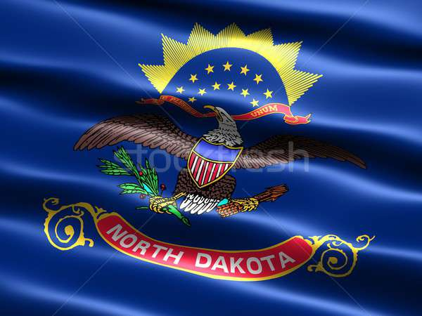 Flag of the state of North Dakota Stock photo © bestmoose