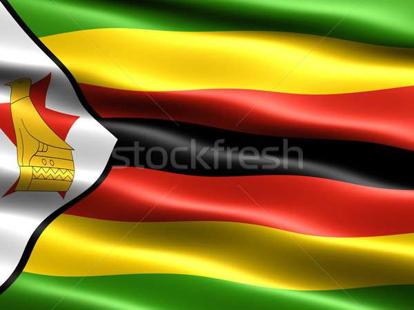 Flag of Zimbabwe Stock photo © bestmoose