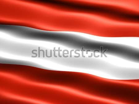 Banderą Austria komputera wygenerowany ilustracja jedwabisty Zdjęcia stock © bestmoose