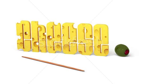 Ser tekst oliwy słowo napisany litery Zdjęcia stock © bestmoose