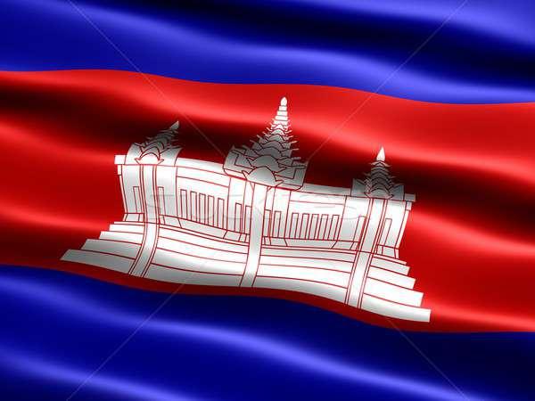 Flag of Cambodia Stock photo © bestmoose