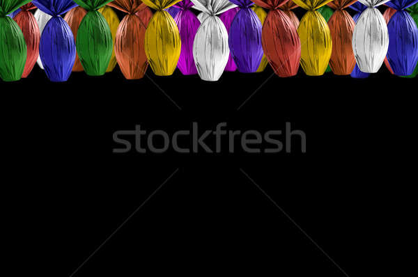 яйца подвесной черный весны кролик шоколадом Сток-фото © betochagas
