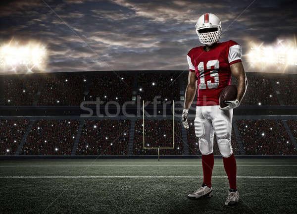 футболист красный равномерный стадион спорт мужчин Сток-фото © betochagas