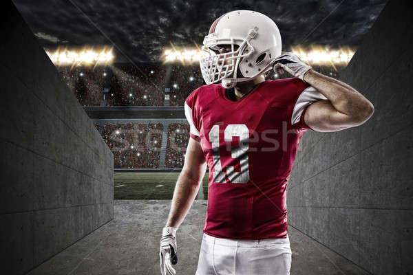 футболист красный равномерный стадион туннель спорт Сток-фото © betochagas