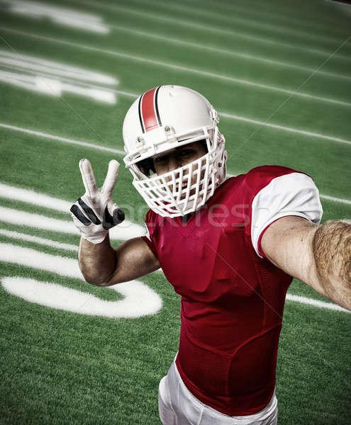 футболист красный равномерный спорт Сток-фото © betochagas