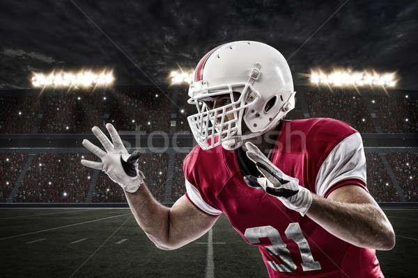 футболист красный равномерный спорт мужчин Сток-фото © betochagas