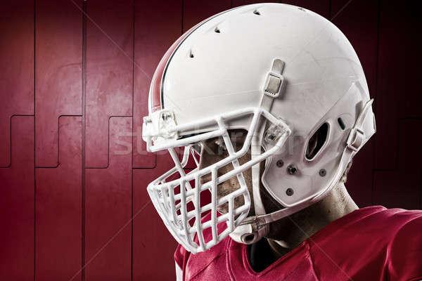 футболист красный равномерный ящик спорт Сток-фото © betochagas