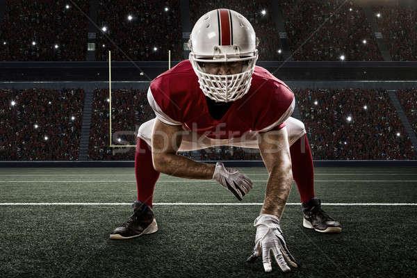 футболист красный равномерный линия стадион спорт Сток-фото © betochagas