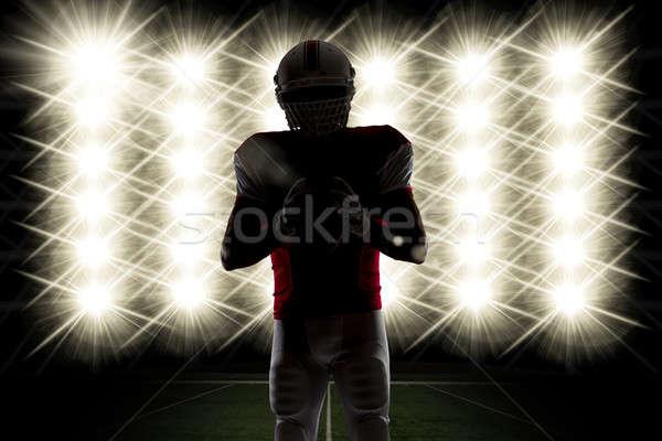 футболист силуэта красный равномерный фары спорт Сток-фото © betochagas