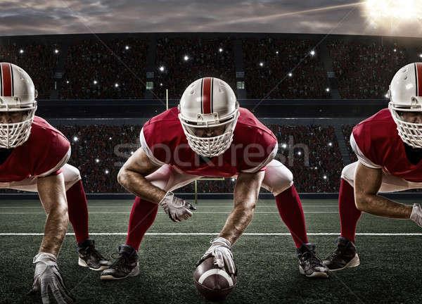 футболист футбола красный равномерный линия Сток-фото © betochagas