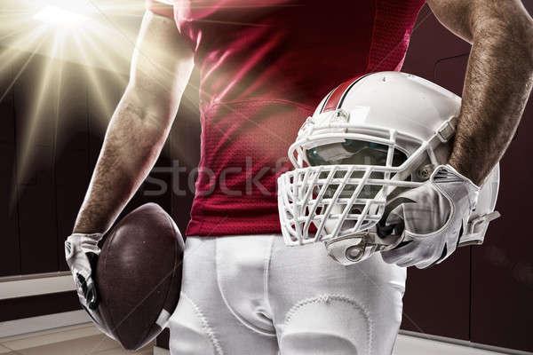 футболист красный равномерный ящик спорт мужчин Сток-фото © betochagas