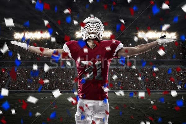 футболист красный равномерный стадион спорт Сток-фото © betochagas