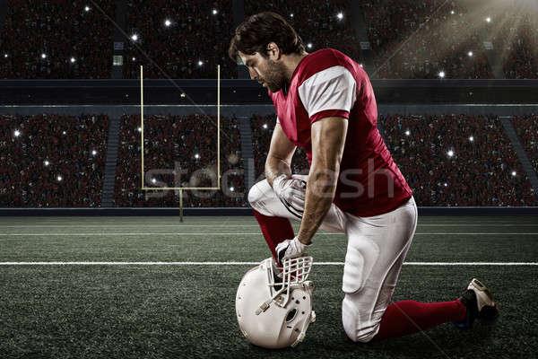 футболист красный равномерный спорт мужчин черный Сток-фото © betochagas