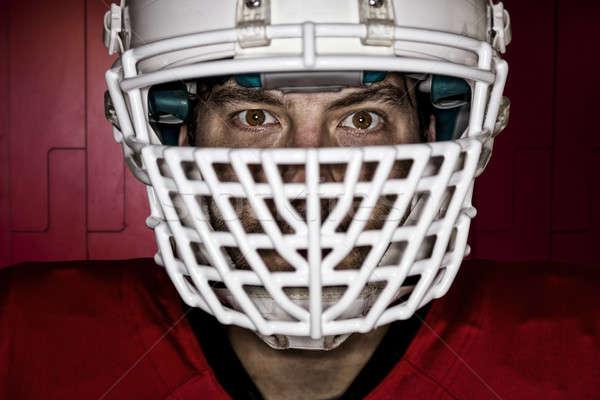 футболист глазах красный равномерный ящик Сток-фото © betochagas