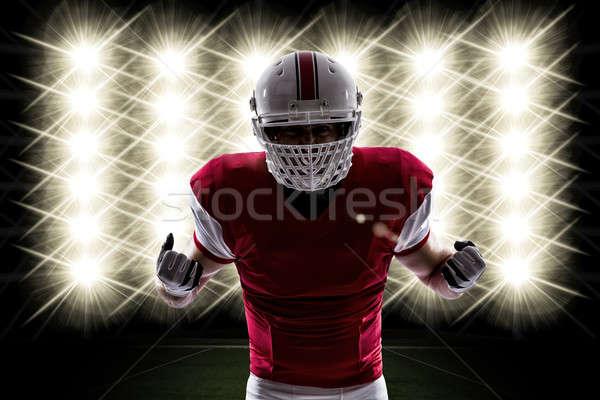 футболист красный равномерный фары спорт мужчин Сток-фото © betochagas