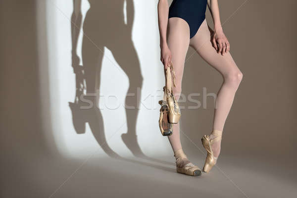 Cropping portrait of the legs graceful ballerina in a studio  Stock photo © bezikus