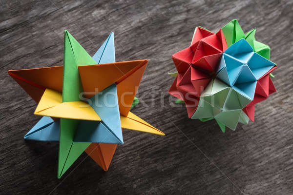 пару оригами звездой цветок поверхность Сток-фото © bezikus