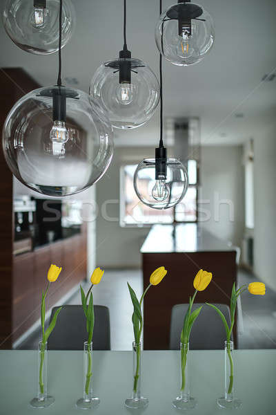 Tulips on the kitchen background Stock photo © bezikus
