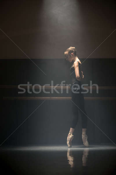 балерина Cute девушки создают стены Сток-фото © bezikus