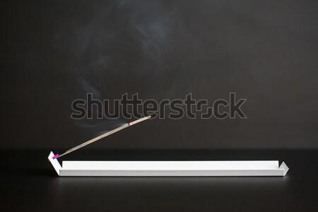 White support with burning aroma stick Stock photo © bezikus
