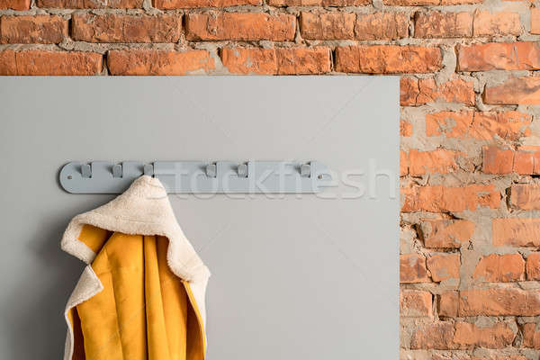 Metal cinza cabide jaqueta colorido enforcamento Foto stock © bezikus