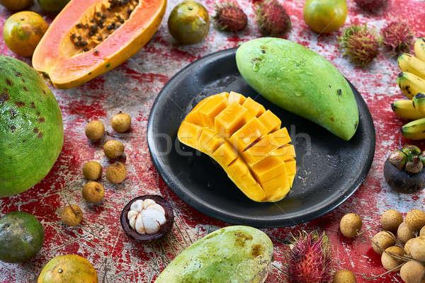 Kolorowy egzotyczny owoców Zdjęcia stock © bezikus