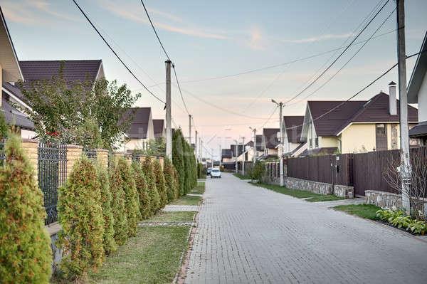 улице современных коттедж города современный стиль различный Сток-фото © bezikus