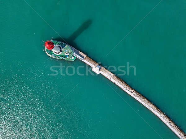 Deniz feneri deniz yapay damla gölge su yüzeyi Stok fotoğraf © bezikus