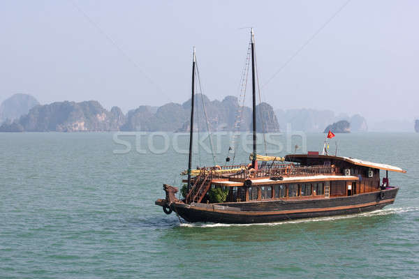 Boat and Islands Stock photo © bezikus
