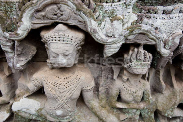 Carving at Angkor Stock photo © bezikus