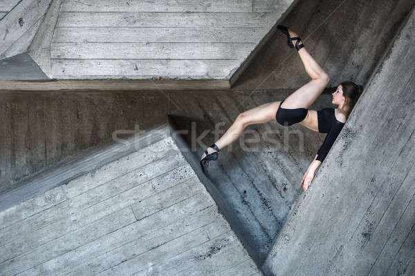 Flexible dancer posing Stock photo © bezikus