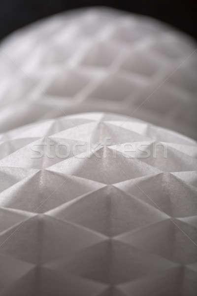 Beyaz kâğıt origami çift karanlık Stok fotoğraf © bezikus