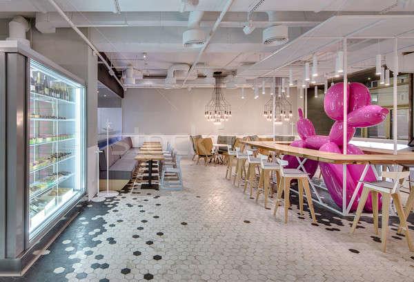 Kafejka strych stylu wyroby cukiernicze świetle wnętrza Zdjęcia stock © bezikus