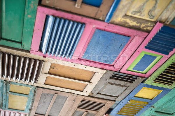 Wooden multi-colored panels Stock photo © bezikus